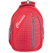 Classic Trendy All-rounder Polyester School Bag |Shoulder Backpacks | Casual Bag for Girls & Boys 22 L Backpack(Red)
