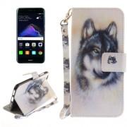 Huawei P8 Lite (2017) Wolf Pattern Horizontal Flip Leather Case with Holder & Card Slots & Wallet & Lanyard