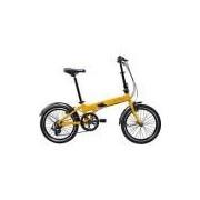 Bicicleta Dobrável Aro 20 Durban Bay Pro 7 Velocidades Amarela