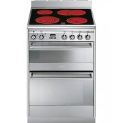 Smeg Concert SUK62CMX8 Ceramic Electric Cooker with Double Oven - Stainless Steel