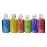 eshoppee Multi Color 900 gm 11/0, 2mm Rainbow Seed Beads, 6 Color x 150 gm, for Jeweller Making Material (6 Rainbow Colors) Embroidery Seed Bead kit / Jewellery kit / Craft kit/ DIY kit