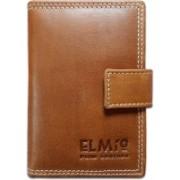 EL Mio EL Mio Brand New Stylish, Classic & Royal 100% Pure & Natural Genuine Vintage Tan Leather Unisex Trendy Rustic Modern 3+ 15 Card Holder(Set of 1, Tan)