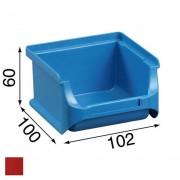 Allit Pojemniki z tworzywa sztucznego - 102x100x60 mm, czerwone