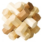 Fridolin Joc logic IQ din lemn bambus Double Knot
