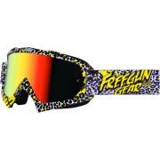 Freegun YH-16 Panthera Motocross Goggles White Yellow One Size