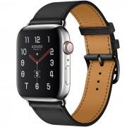 Часы Apple Watch Hermès Series 5 GPS + Cellular 44mm Stainless Steel Case with Single Tour (Noir)