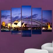 Декоративен панел за стена с нощен изглед от Сидни Vivid Home