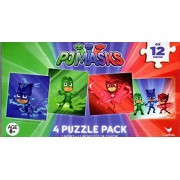PJ Masks - 4 Puzzle Pack - 12 Piece Jigsaw Puzzle (Set of 4 Different Puzzles) - v3