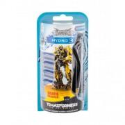 Wilkinson Sword Hydro 3 Transformers pre mužov holiaci strojček s jednou hlavicou 1 ks + náhradná hlavica 4 ks