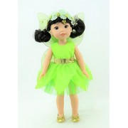 14.5 INCH DOLL: Tinker Bell Outfit   Fits14' Dolls - Fits 14 inch Dolls such as the Wellie Wishers
