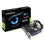 Placa de Vídeo GeFORCE GIGABYTE GTX 750 1 GB DDR5 128 Bits | PCI-E 3.0 / DVI-I / DVI-D / HDMI | GV-N750OC-1GI - 1504 1504