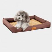 HMNJ Resistente al Agua Mascota Cama para Gatos y Cachorros Desmontable Lavable a máquina a Prueba de arañazos (Brown)(39x27x7cm)