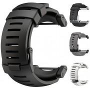 Suunto Silikonový řemínek k hodinkám Core černý se stříbrnou sponou