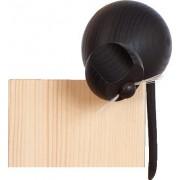 Holzfigur Katze schwarz an Ecke sitzend 105cm