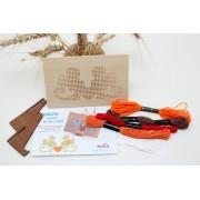 Goblen SORICEI kit de cusut pe placa din lemn obechi
