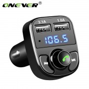 Onever Fm-zender Aux Modulator Bluetooth Handsfree Carkit Auto Audio Mp3-speler met 3.1A Quick Charge Dual USB Auto Charger