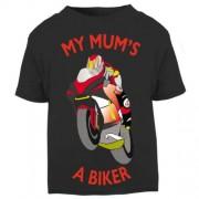 C- My Mum is a biker motorcycle toddler baby childrens kids t-shirt 100% cotton