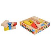 Skillofun Wooden Junior Building Blocks, Multi Color (38 Piece)