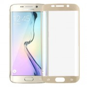 Ultrathin Curved Electroplating TPU Screen Protector for Samsung Galaxy S6 Edge+ / G928(Gold)