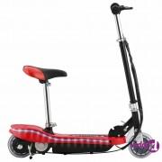 vidaXL Električni skuter sa sjedalom i LED svjetlima 120 W crveni