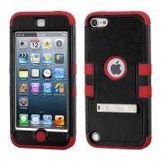 Funda Protector Triple Layer Apple Ipod 5 Negro / Rojo c/Pie
