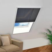 vidaXL Ecran insecte pentru ferestre, aluminiu, 80x100 cm
