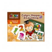 Set 26 puzzle-uri MomKi Culori forme si numere 52 piese