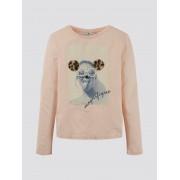 TOM TAILOR Lange mouwen shirt met fotoprint, Kinderen, pearl blush rose, 152