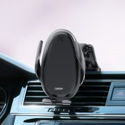 JOYROOM JR-ZS199 15W Fast Charging Wireless Charger Car Instrument Platform Phone Holder for 4''-6.5'' Smart Phones - Black