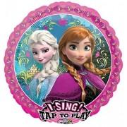 "Loon Balloon Frozen Anna Elsa 28"" Birthday Let It Go Party Singing Sing A Tune Mylar Balloon"