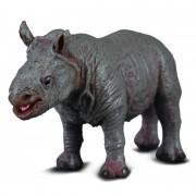 Figurina pui de Rinocer alb S Collecta, 6.5 x 3 cm