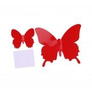 EH 12pcs De La Mariposa 3D Arte Decal Decoración PVC Mariposas Pegatinas De Pared Red