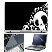 FineArts Laptop Skin Vector With Screen Guard and Key Protector - Size 15.6 inch
