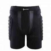 WOLFBIKE BC305 Rodillo de resistencia a caidas protectora acolchado cadera Butt Pad Shorts para patinaje de snowboard Esqui - Negro (L)