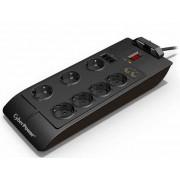 Kabel Razvodnik Naponski CyberPower SB0701BA, crna, Schuko M utikač - Schuko F utičnica, 1.5m, 1x Schuko utikač, 7x Schuko utičnica, prekidač, prenaponska zaštita