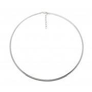 Zilveren omegacollier best basics Halfrond 3.0 mm gerodineerd 103.7042.43