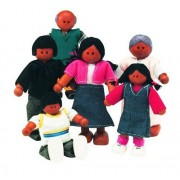 Small World Toys Ryans Room Wooden Doll House - Family Affair (African-American Family)