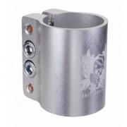 Grit Quad Clamp 34.9mm w Logo - Anodized Silver