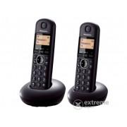 Telefon fără fir Panasonic KX-TGB212PDB DECT DUO, negru
