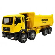 1:50 Scale Vehicles Construction Equipment Diecast Models Toys Moveable Alloy Dump Truck Yellow