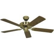 Ventilator de tavan (Ø) 103 cm, 3 trepte de viteza, 5 palete, culoare palete/carcasa: stejar antic/alama (lustruit), Casa Fan Classic Royal 103 MP