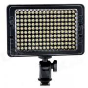 C-160S nueva portatil LED de 160 granos 3200K / 5500K alto brillo LED Video Light - negro