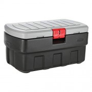 Rubbermaid ActionPacker Caja de almacenaje, Negro/Blanco, 35-Gallon, 1, 1