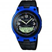 Reloj Deportivo World Time Casio AW-80-2B Para Caballero- Negro Y Azul