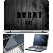 Finearts Laptop Skin 15.6 Inch With Key Guard & Screen Protector - Burnt Out