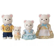 "Epoch Sylvanian Sylvanian Families Family Doll ""Family of White Bear Fs-19 """