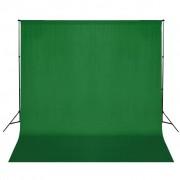 vidaXL System zawieszenia tła z zielonym tłem 600 x 300 cm