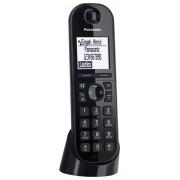 Panasonic KX-TGQ200 telefono IP Nero Cornetta wireless LCD 4 linee