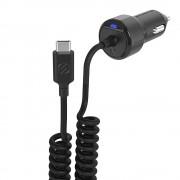 Incarcator Auto Scosche PowerVolt 18W fast charge cu cablu extensibil USB-C 30 – 90 cm