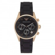 Armani Watches Armani montres chronographe Womens Black And Gold Watch Ar5906